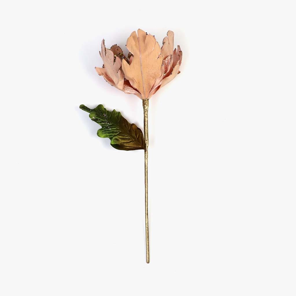 Poinsettia Veludo Rosa 31 cm