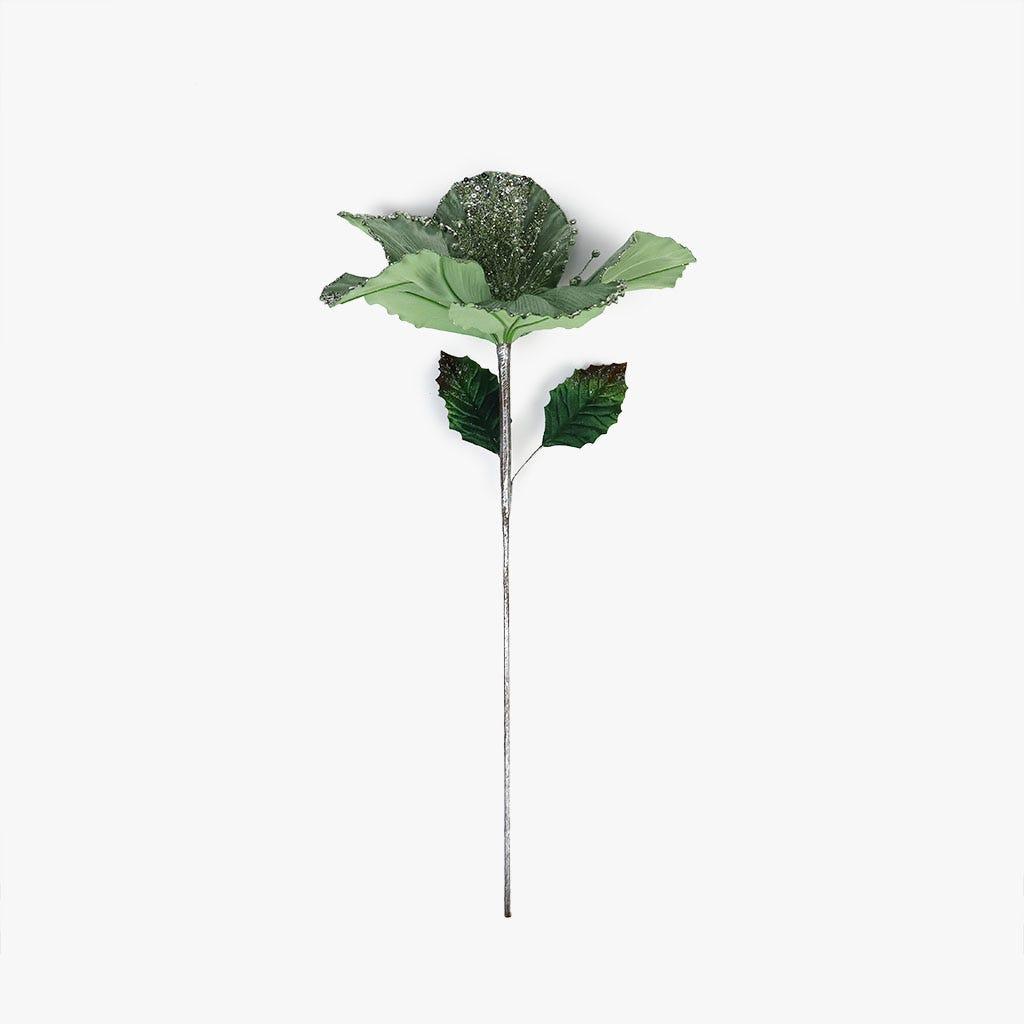 Ramo Hibiscus Veludo Menta 58 cm
