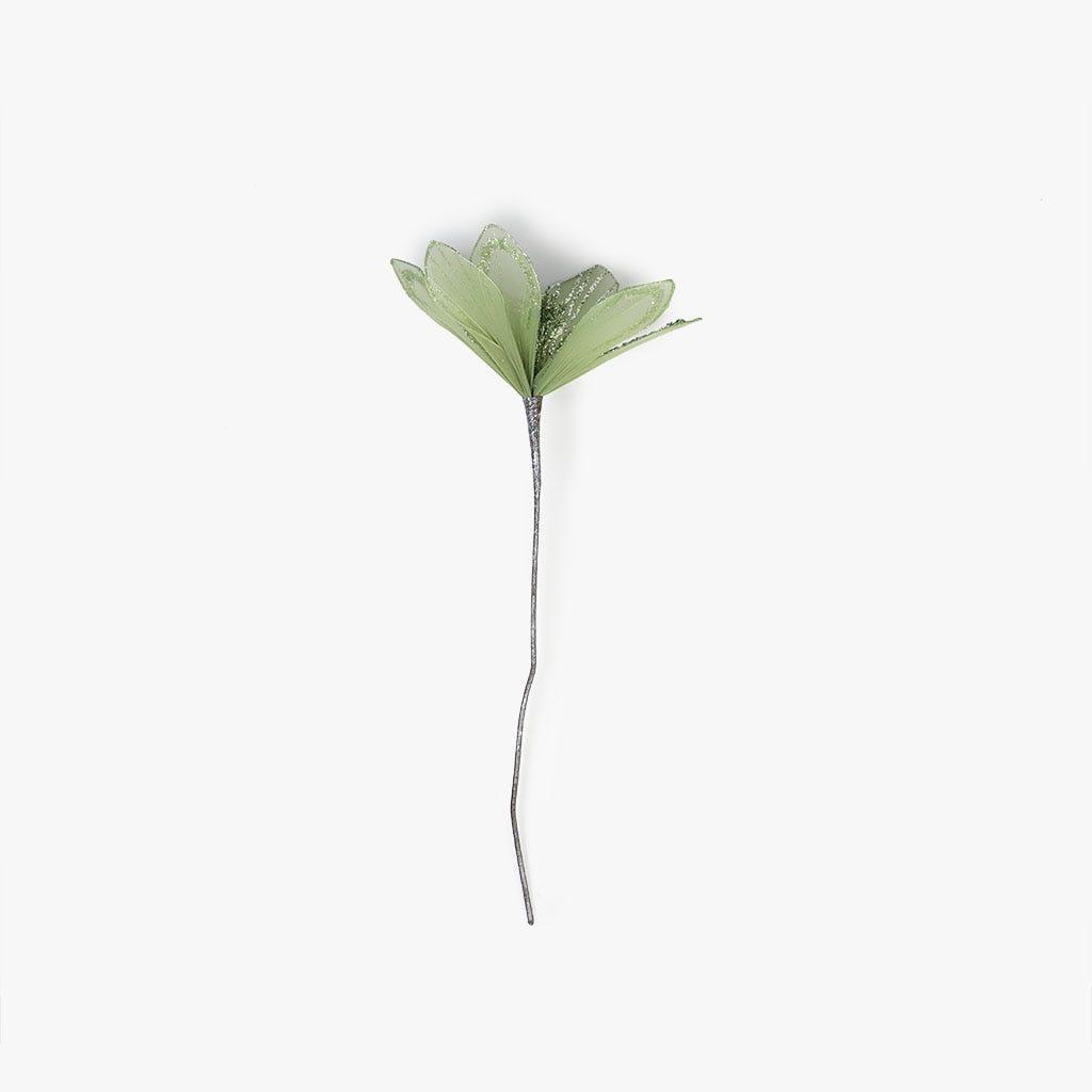 Poinsettia Glitter Menta 47 cm