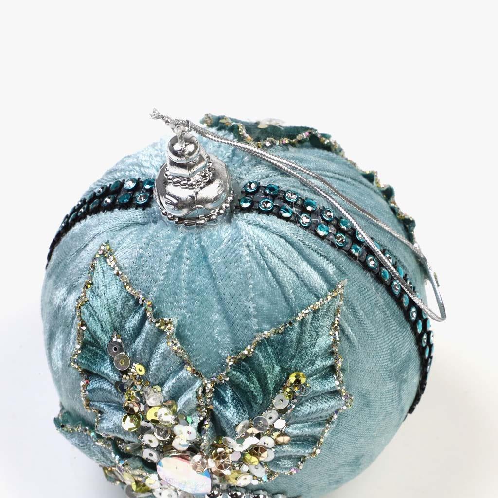 Bola de Natal Veludo Azul
