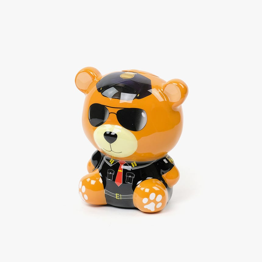 Teddy bear bank