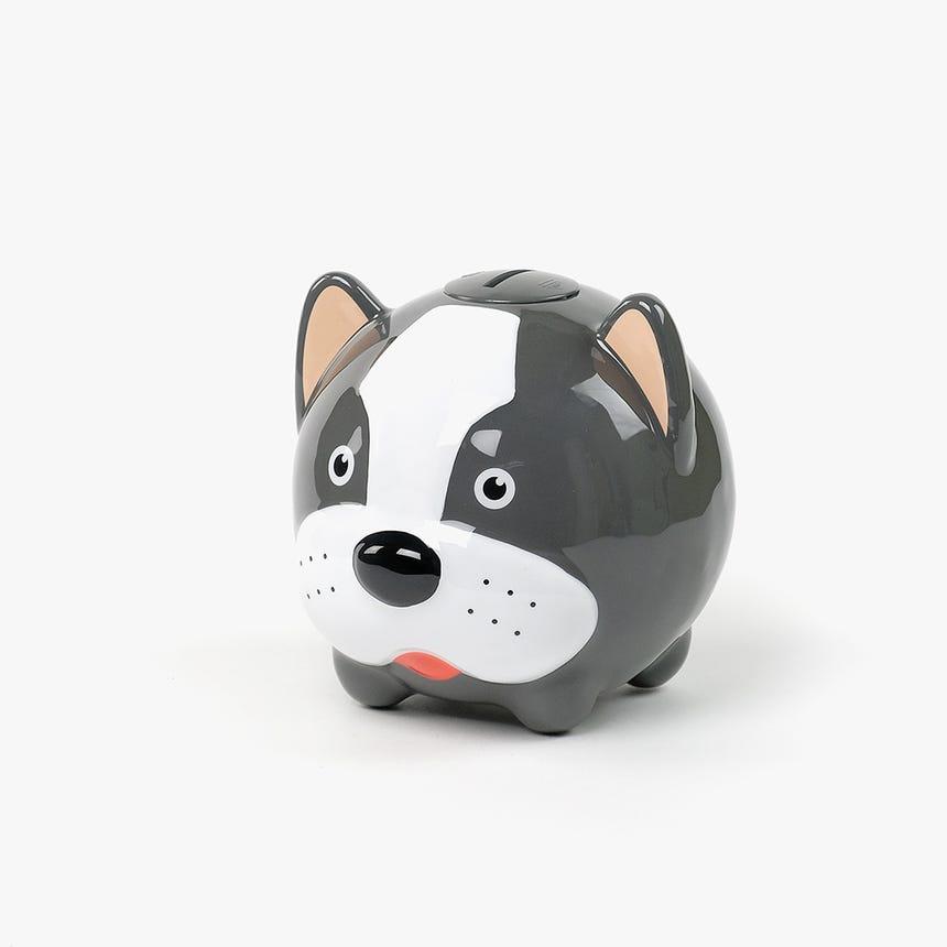 Mealheiro cão Preto e Branco