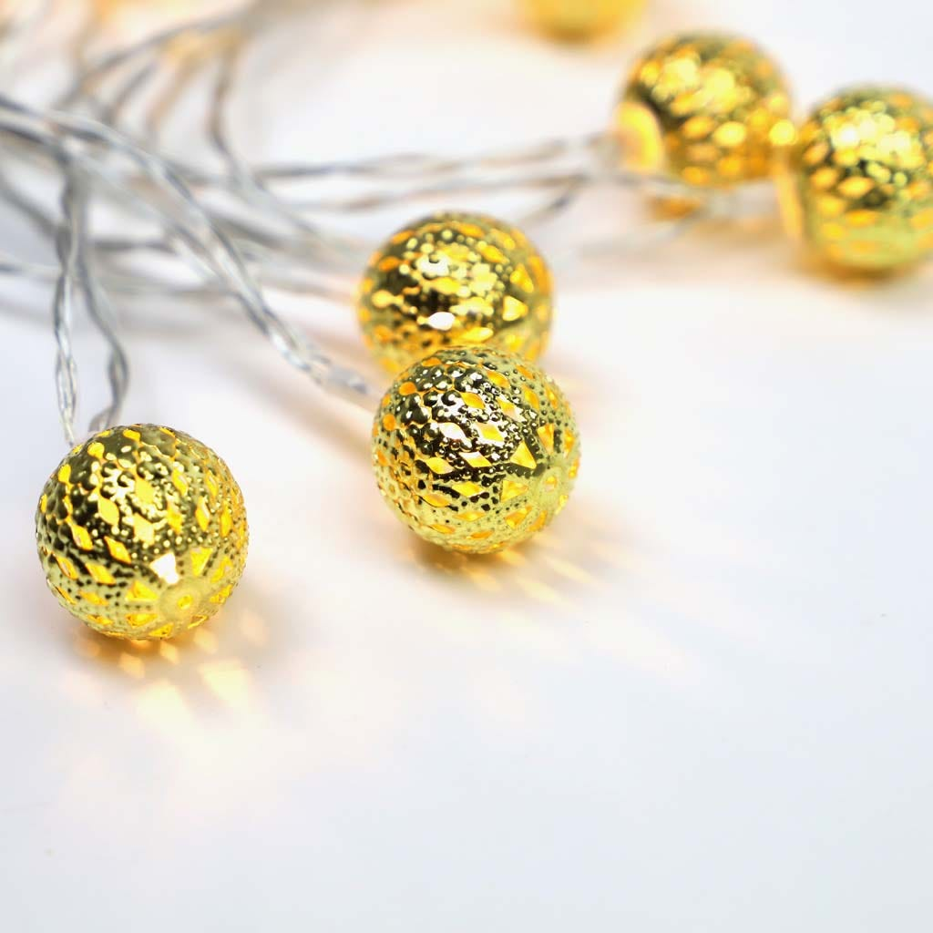 Luzes de Natal Bola Dourada 10 LED