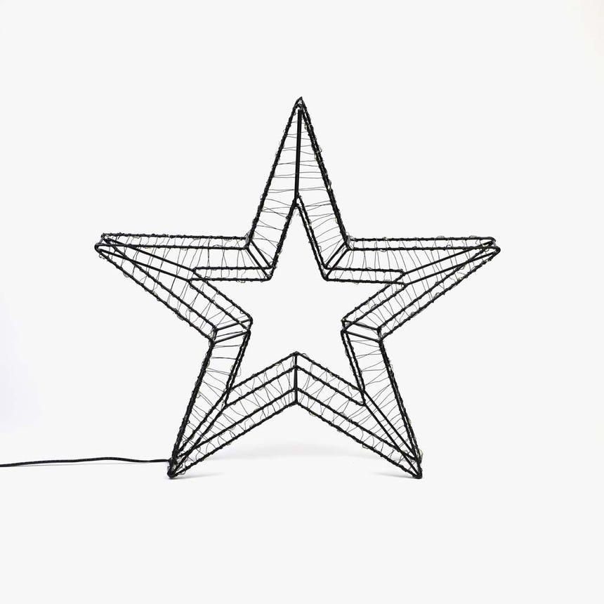 Estrela com Luz LED 45x45x6 cm 80 LED