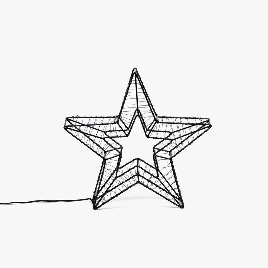 Estrela com Luz LED 30x30x6 cm 60 LED