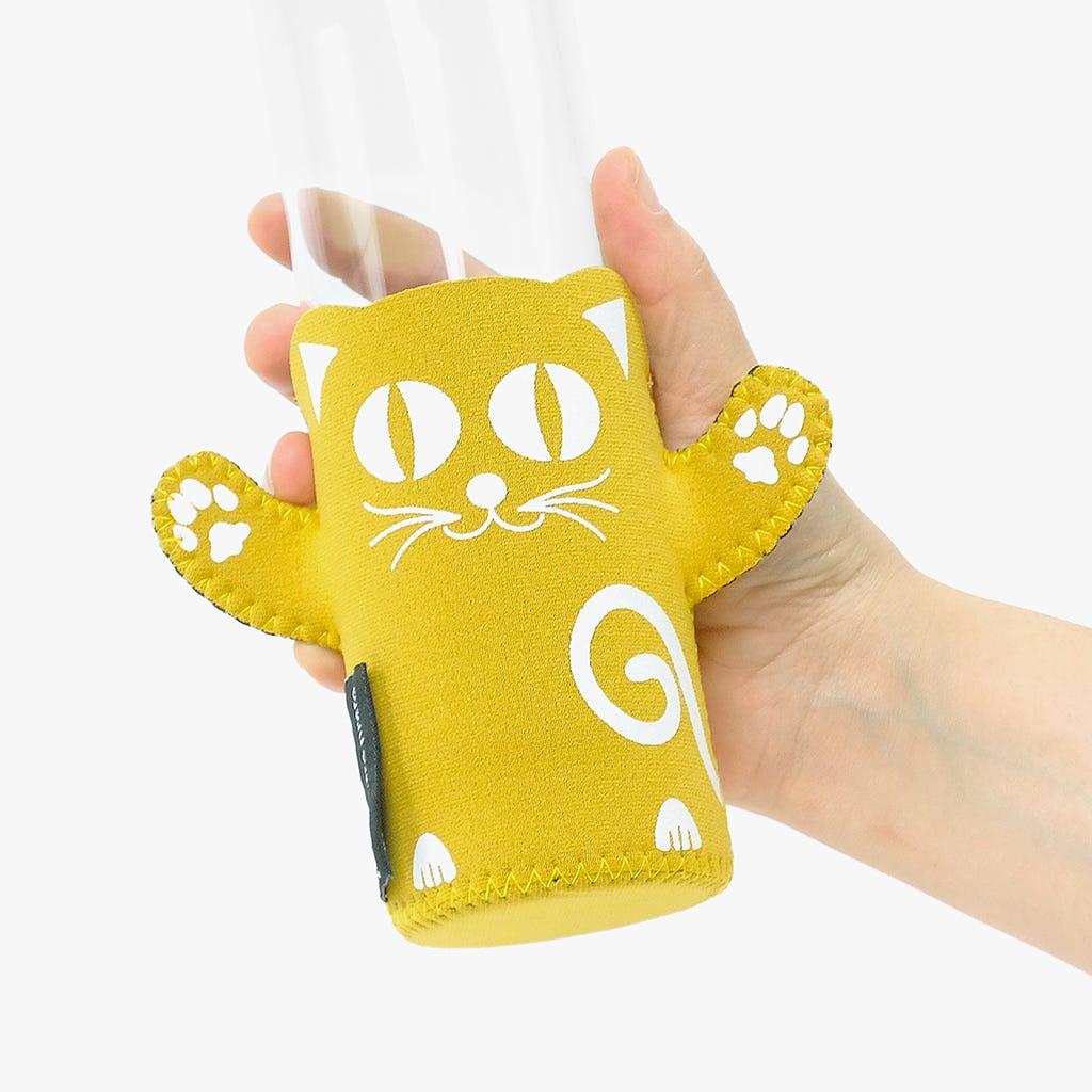 Capa de Garrafa Gato Amarelo