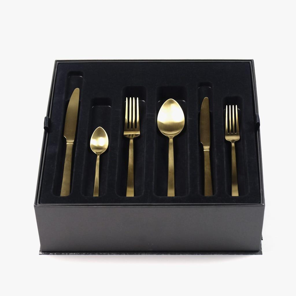 Faqueiro Hotel Dourado (36 peças)
