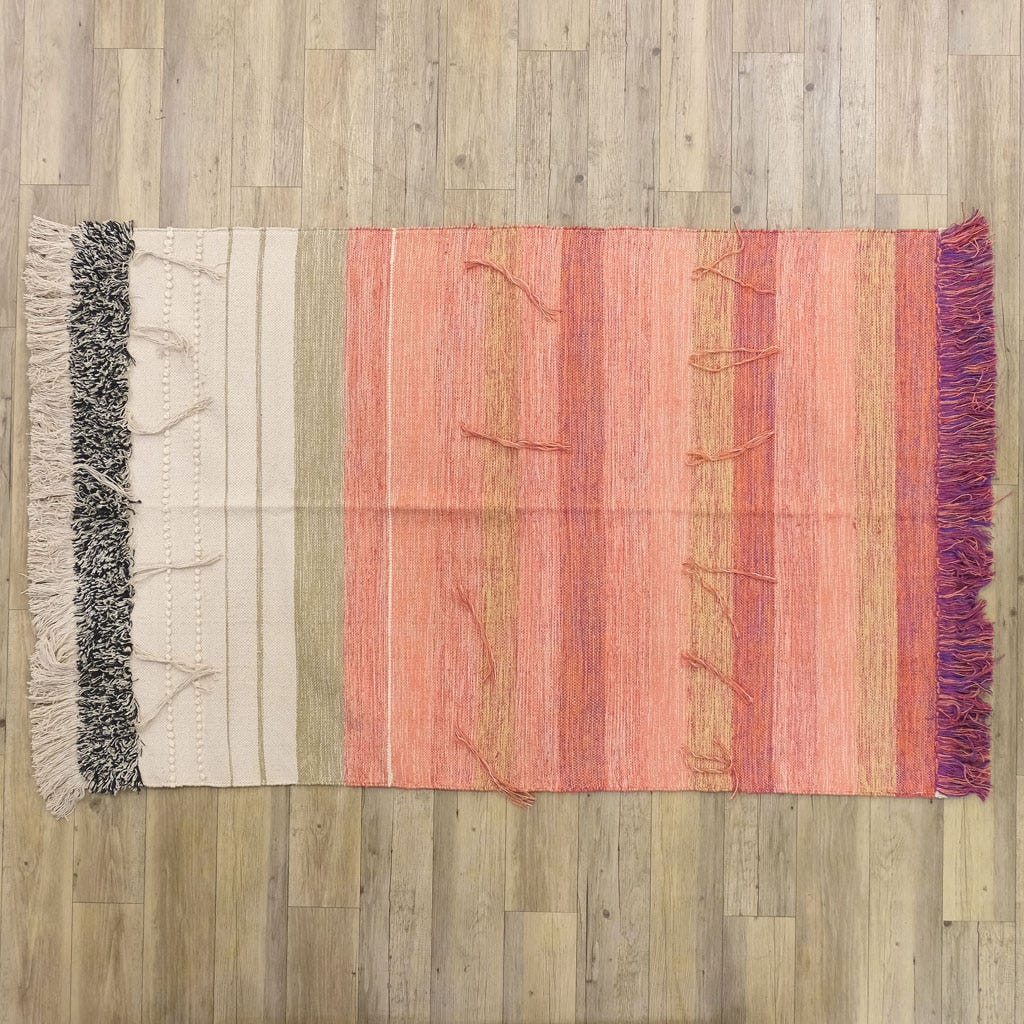 Tapete Franjas Rosa 120x180 cm