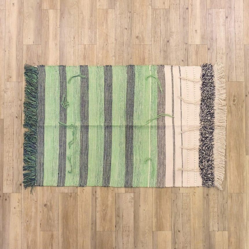 Tapete Franjas Verde 100x150 cm