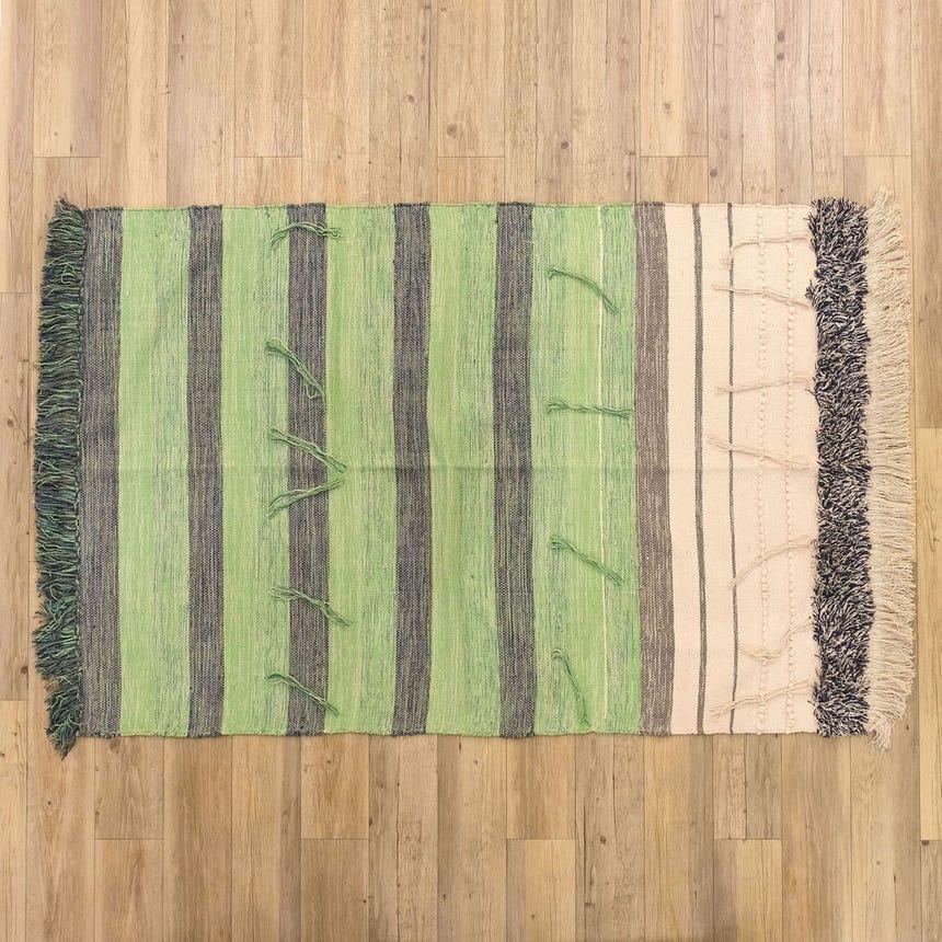 Tapete Franjas Verde 120x180 cm