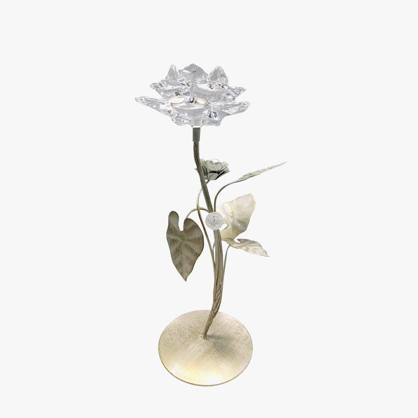 Castiçal Flor 13x13x34 cm