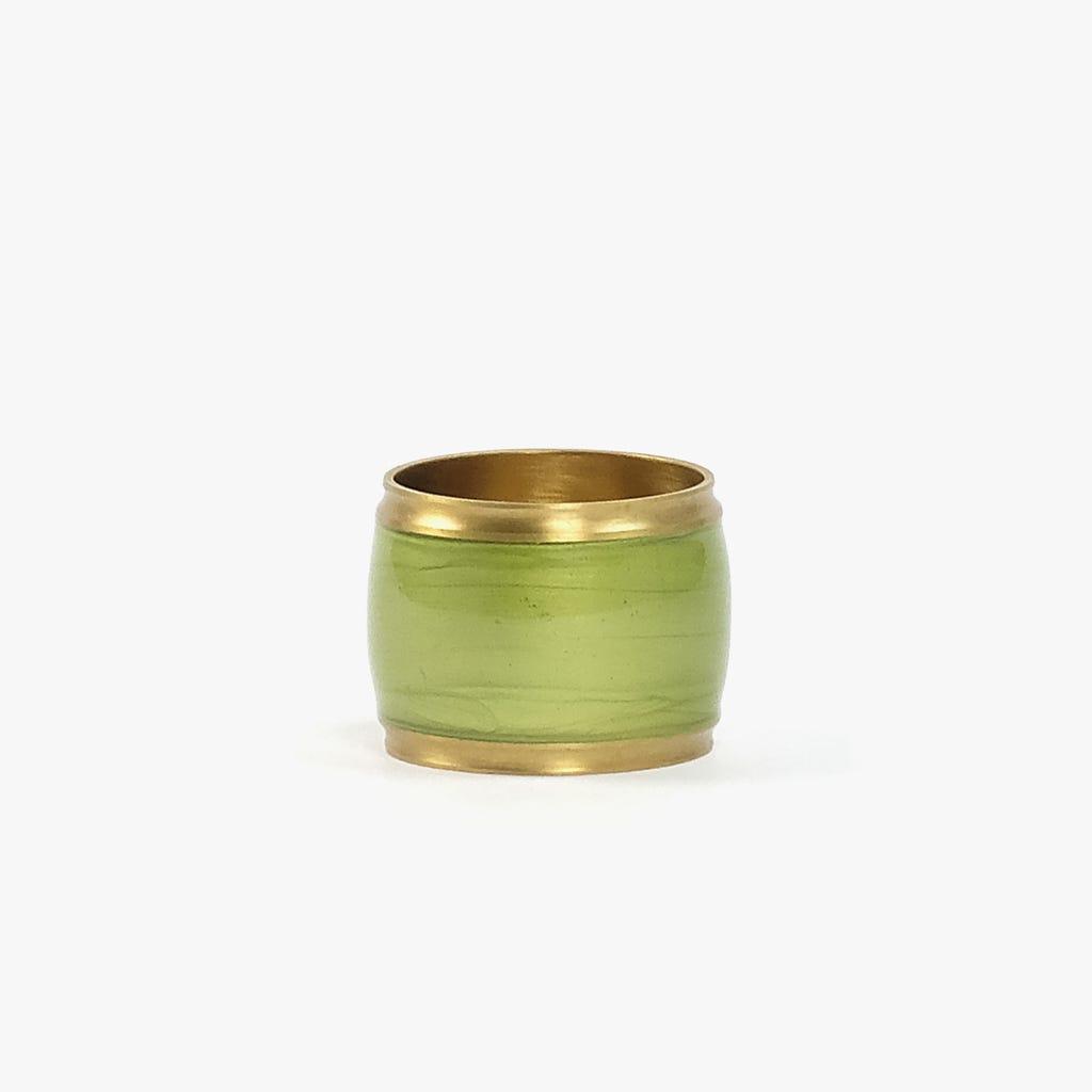 Anel de Guardanapo Esmalte Verde