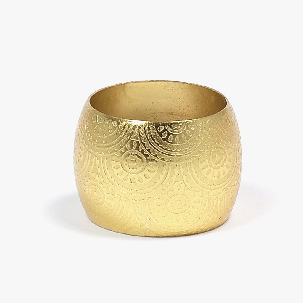 Anel de guardanapo Ouro
