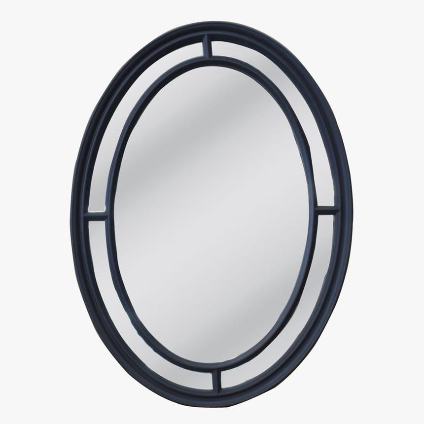 Espelho Oval Preto 110x80 cm