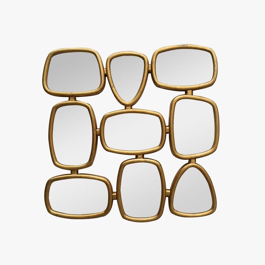 Espelho Dourado 96x96 cm