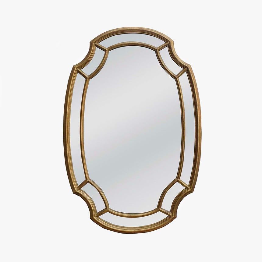 Espelho Oval Dourado 80x120 cm
