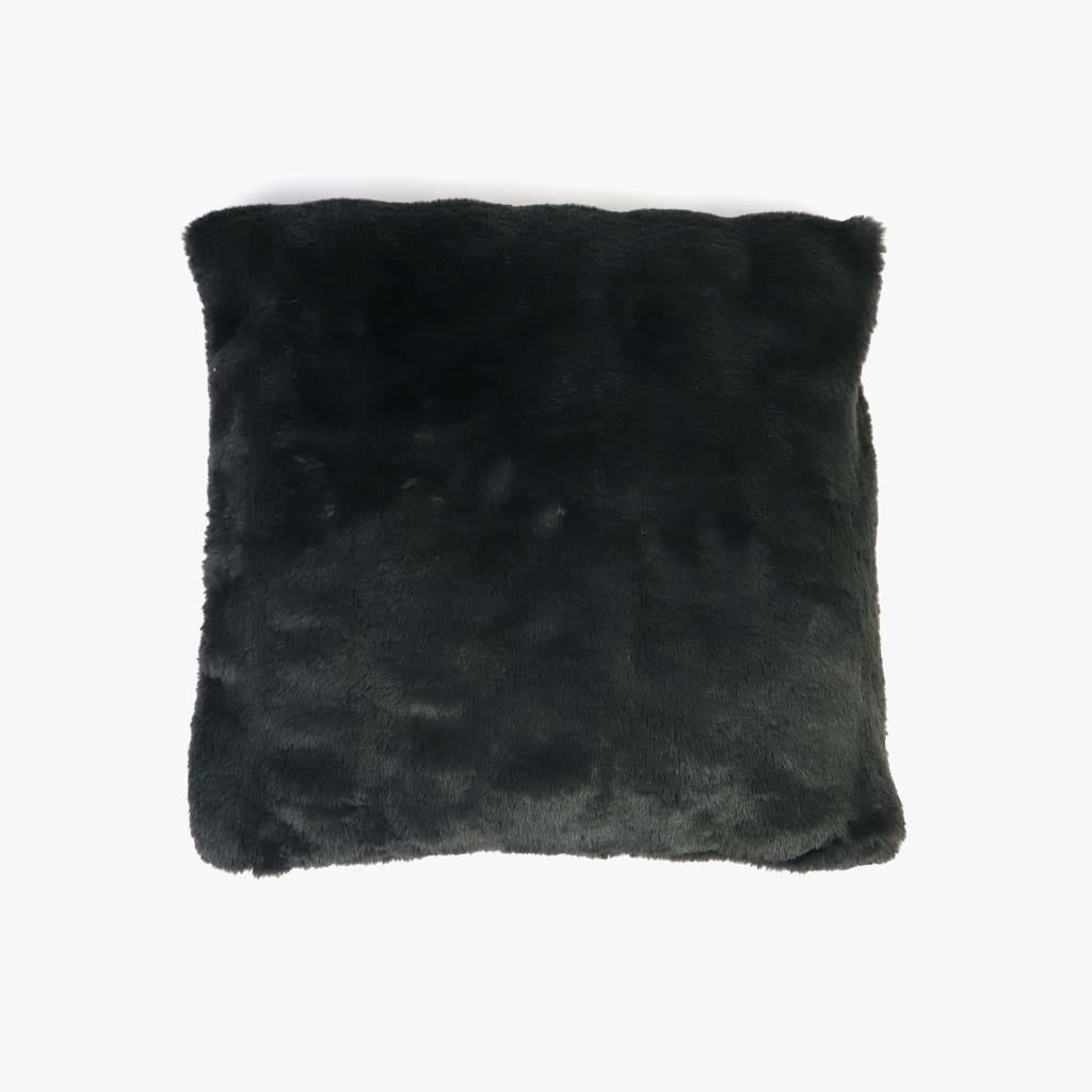 Capa de Almofada Pelo Cinzento 45x45 cm