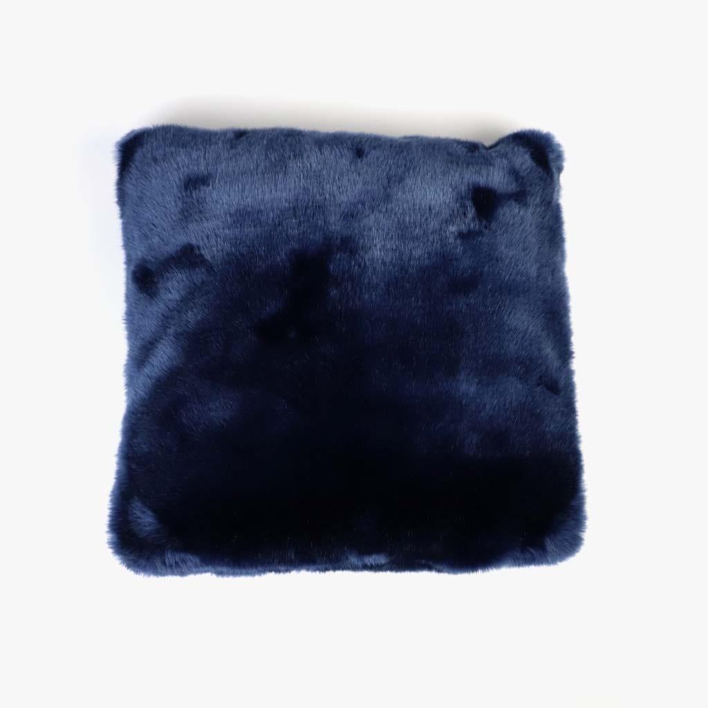 Capa de Almofada Pelo Azul 45x45 cm