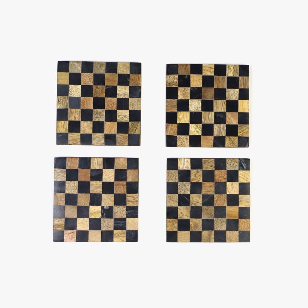 Base para Copos Xadrez (conjunto4)