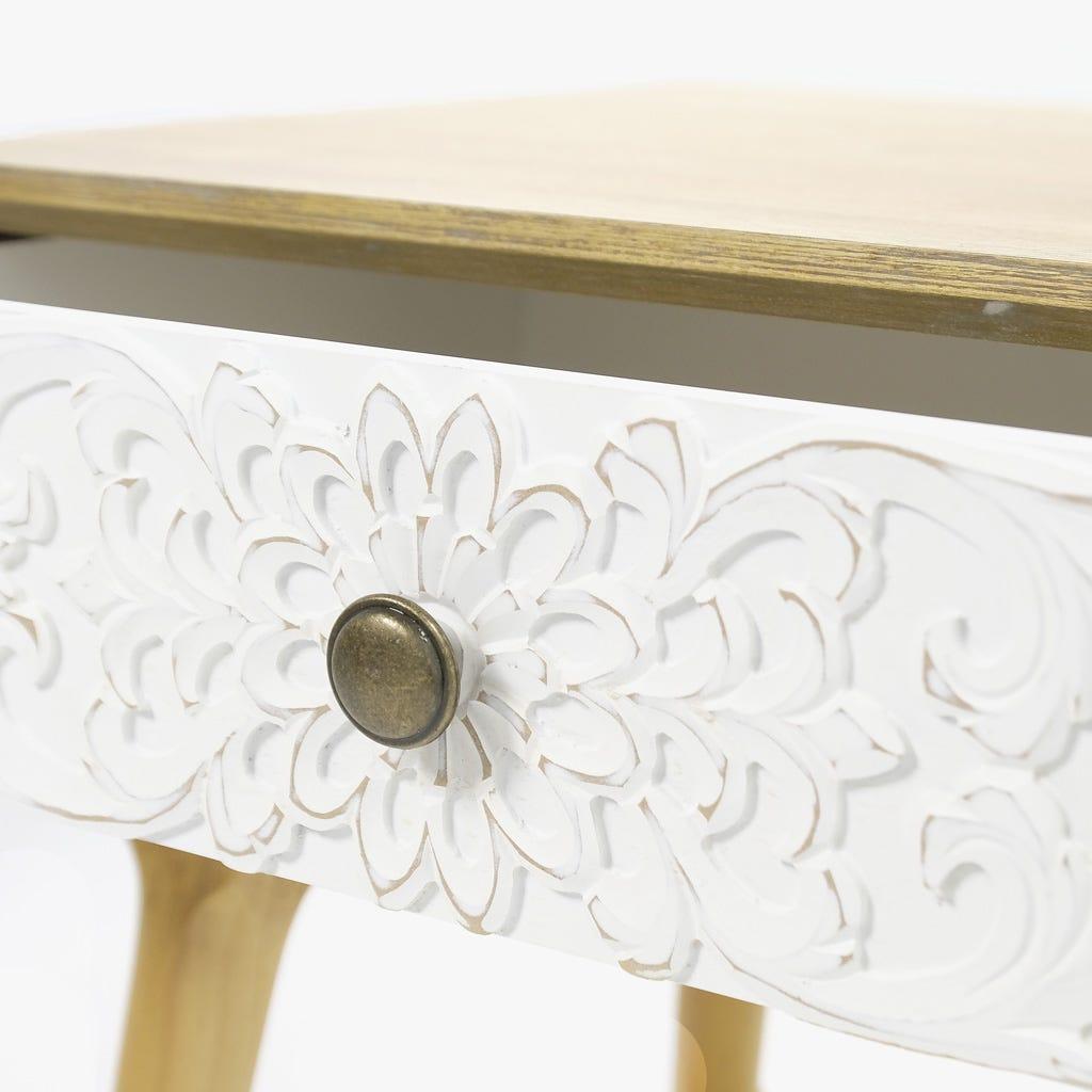 Mesa de Cabeceira Florença 1 Gaveta 48x41x56 cm